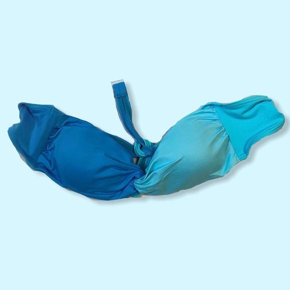 4/$20⚡️ BLUE TWIST TUBE BIKINI TOP
